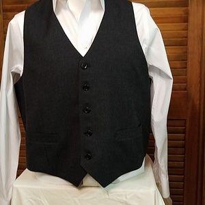 Men's dark gray/ black vest
